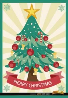 圣诞树径向条纹