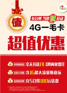 4G卡海报