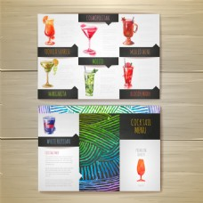 鸡尾酒三折页设计图片