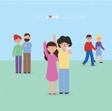 可爱的情侣海报