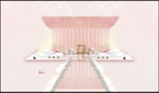 粉金色婚礼舞台