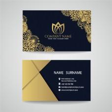 金色图案卡片设计图片