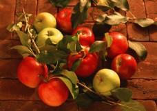青苹果红苹果摄影图片图片