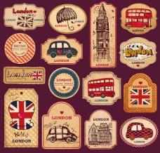 英国元素标签