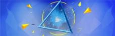 几何图形摩天轮全屏海报