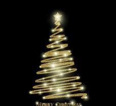 绚丽线条圣诞节主题元素矢量素材
