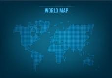 自由矢量拼接世界地图