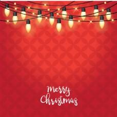 圣诞彩灯背景设计