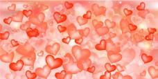 红色心形时尚背景图片