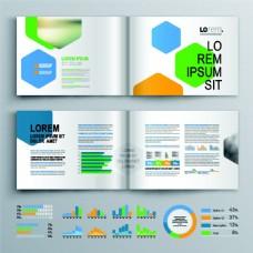 科技彩色折页手册图片