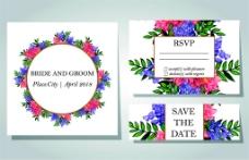 植物鲜花婚礼卡片图片