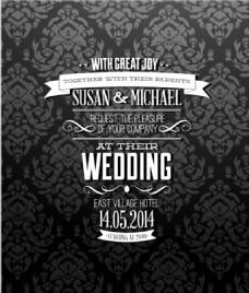 婚礼请柬背景模板