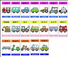 各类交通工具矢量素材