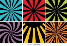 彩色抽象背景集