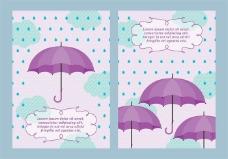 春天的雨伞矢量背景