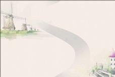 彩色水墨画册背景-11