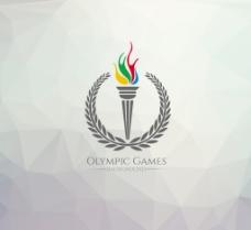 奥运火炬多边形背景