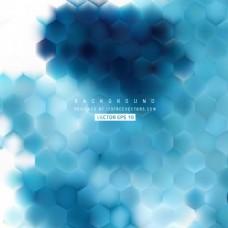 蓝六角背景图案