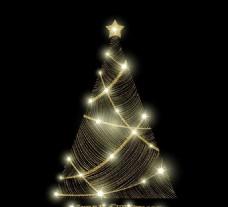 时尚光效圣诞节主题元素矢量素材