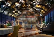 餐厅3d模型下载