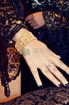 手上的高贵珠宝