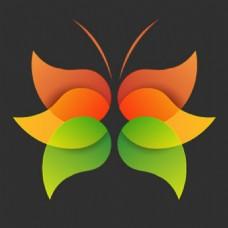 抽象蝴蝶模板图标