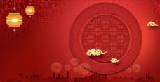 红色背景喜庆新年