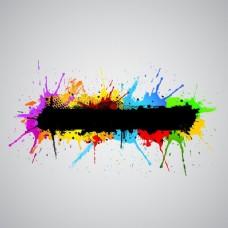 摘要垃圾背景有五颜六色的油漆飞溅