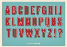 复古风格字母集