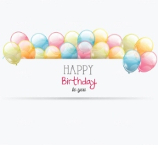 时尚彩色气球节日庆典矢量设计图