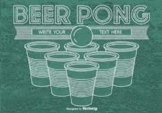 啤酒乒乓背景