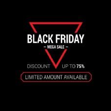 黑色的背景有一个三角形,黑色星期五