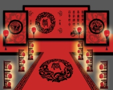 汉唐中式效果图