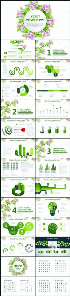 花卉清新总结报告模板