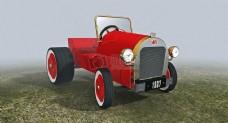 古老的红色汽车