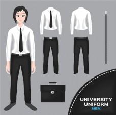 公文包和校服图片