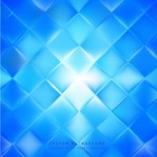 抽象蓝色正方形背景模板
