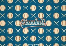 免费复古棒球矢量背景