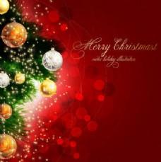 明亮的装饰圣诞背景