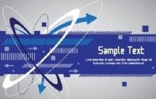 技术蓝色旗帜设计