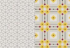几何马赛克图案
