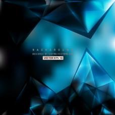 蓝色黑色三角背景设计