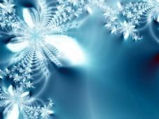 冬季雪花花纹背景