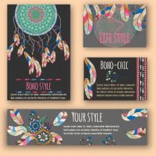 民族元素企业卡片设计图片