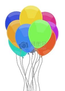 色彩斑斓的气球