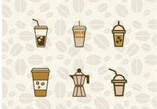 冰咖啡向量