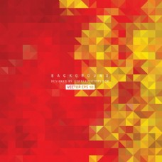 红黄色的三角形背景插画
