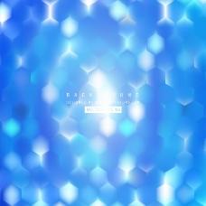 蓝六角图案背景设计