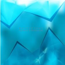 蓝色多边形三角背景设计