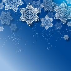 蓝色背景雪花系列